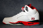 AJ 5 Fire Red Thumb